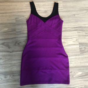 Express Purple Mini Short Sleeve Party Dress, SML